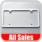 All Sales License Plate Frame Flat, Smooth Style Frame Polished Aluminum Sold Individually #84002P