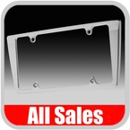 All Sales License Plate Frame Smooth Style Frame Brushed Aluminum Sold Individually #84003
