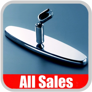 "All Sales Rear View Mirror 8"" Long Oval Design Smooth Finish Style Polished Aluminum Sold Individually #97394P"