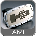 All Sales Trailer Hitch Cover H3 Hitch Cover Black H3 Logo w/Brushed Foreground Polished Aluminum Finish Sold Individually #1001