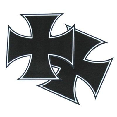 APC Iron Cross Stickers Black, 5 x 5 inch #011195