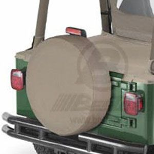"Bestop Tan Spare Tire Cover Tan Color Medium (29"" x 9"") #6102904"