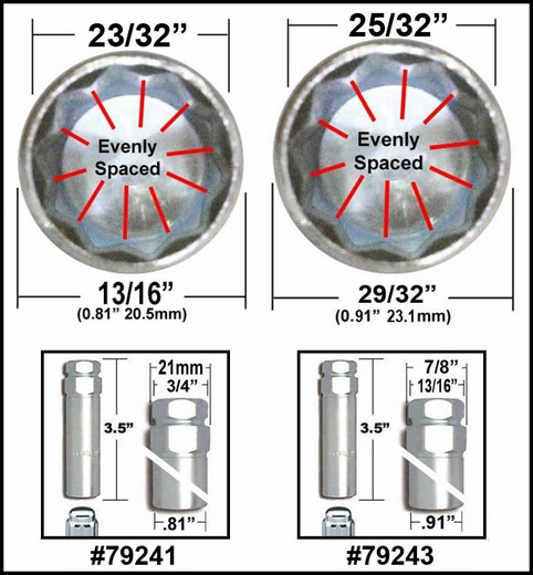 10 Spline Lug nut keys, Wheel lock keys - TA20-19/21 and TA23-21/22 Bimecc® # 10-SPLINE