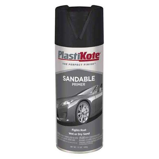 Black Sandable Primer 12 ounce PlastiKote #T236