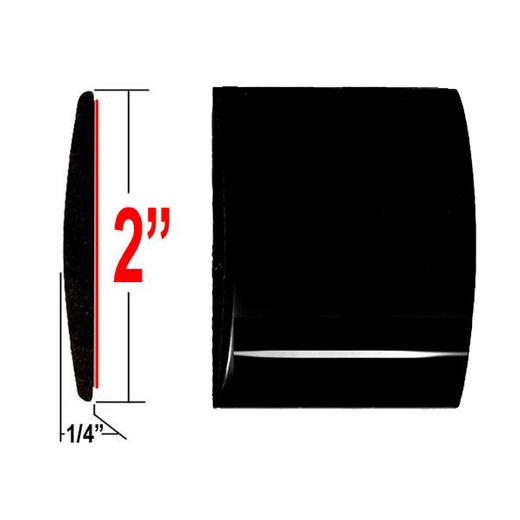 """2"""" Wide Black (High Gloss) Body Side Molding Sold by the Foot, Trim Gard® # 99GT-02"""