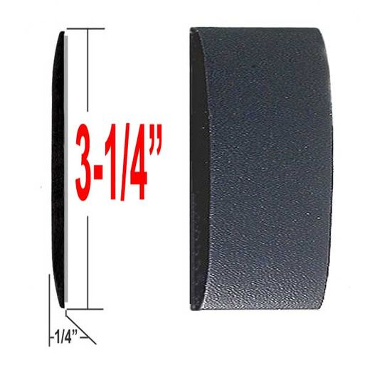 "3-1/4"" Wide Black Body Side Molding Sold by the Foot, Trim Gard® # 3502E"