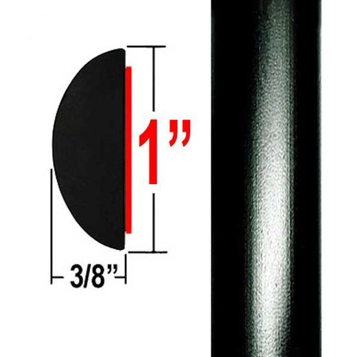 "1"" Wide Black Camaro Molding Trim 202, 209 ( CP20 ), Sold by the Foot, ColorTrim Plastics® # 70-20"