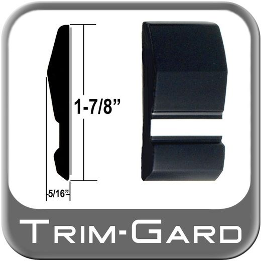 """1-7/8"""" Wide Black / Chrome Body Side Molding Sold by the Foot, Trim Gard® # 1002WC"""