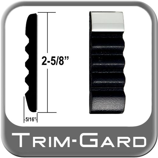 """2-5/8"""" Wide Black / Chrome Body Side Molding Sold by the Foot, Trim Gard® # TCT11"""
