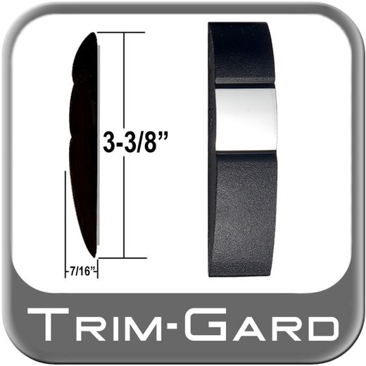 """3-3/8"""" Wide Black / Chrome Body Side Molding Sold by the Foot, Trim Gard® # 98S10"""