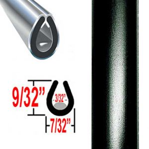 """U"" Style Black Door Edge Guard 100 foot Roll, Trim Gard® # 402-150"
