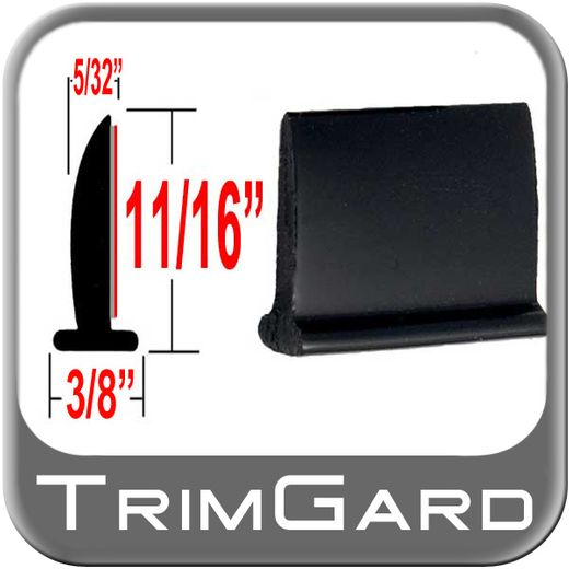 """T"" Style Black Edge/Lip Trim Sold by the Foot, Trim Gard® # 92NT-01"