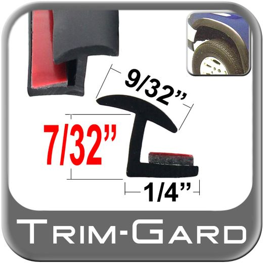 Black Fender Flare Molding Sold by the Foot, Trim Gard® # MHA-TPE