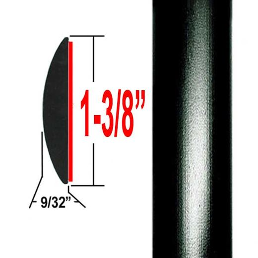 "1-3/8"" Wide Black Molding Trim 202, 209 ( CP20 ), Sold by the Foot, ColorTrim Plastics® # 60-20"