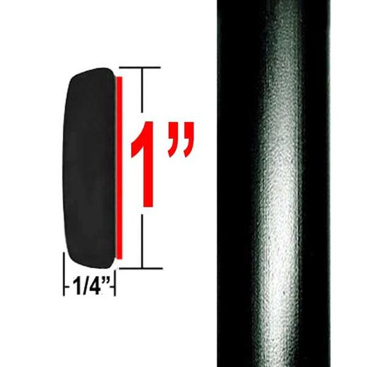 """1"""" Wide Black Molding Trim 202, 209 ( CP20 ), Sold by the Foot, ColorTrim Plastics® # 50-20"""