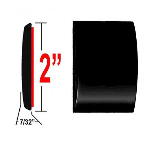 """2"""" Wide Black Molding Trim 202, 209 ( CP20 ), Sold by the Foot, ColorTrim Plastics® # 55-20"""