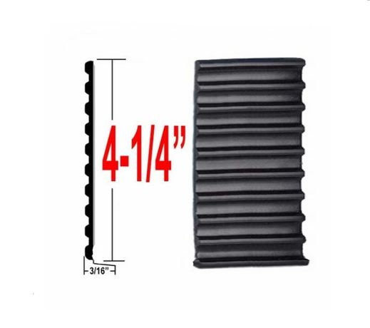 "4-1/4"" Wide Black Tread Molding Sold by the Foot, Precision Trim® # 4535-01"