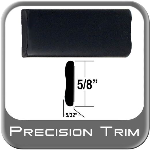 "5/8"" Wide Black Wheel Molding Trim Sold by the Foot, Precision Trim® # 15150-01"