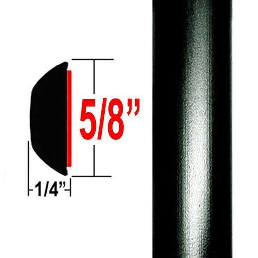 "5/8"" Wide Black Wheel Molding Trim 202, 209 ( CP20 ), Sold by the Foot, ColorTrim Plastics® # 80-20"