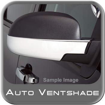 Chevy Avalanche Chrome Mirror Covers 1999-2006 Mirror Cover Set Chrome Plated ABS 2-piece Set Auto Ventshade AVS #687664