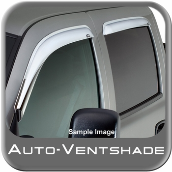 Chevy Suburban Rain Guards / Wind Deflectors 1992-2000 Ventvisor Chrome Plated ABS Plastic 4-piece Set Auto Ventshade AVS #684095