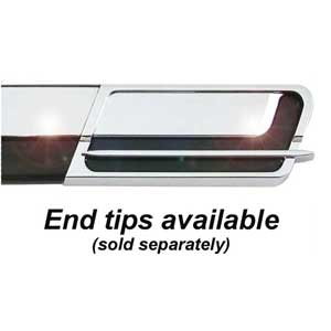 "1-1/8"" Wide Black-Chrome Body Side Molding Two 17' strips, Cowles® # 33-764"