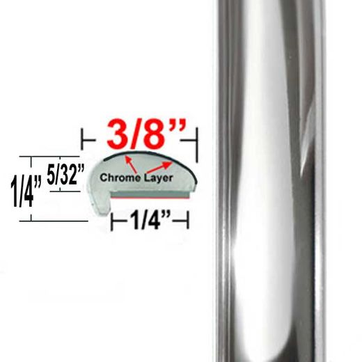 """""""L"""" Style Chrome Car Door Guards ( TG01 ), Sold by the Foot, Trim Gard® # NE01-01"""