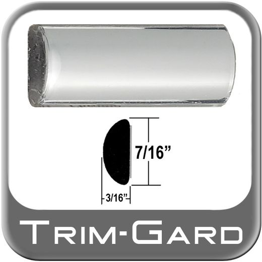 """7/16"""" Wide Chrome Wheel Molding Trim Sold by the Foot, Trim Gard® # 301"""
