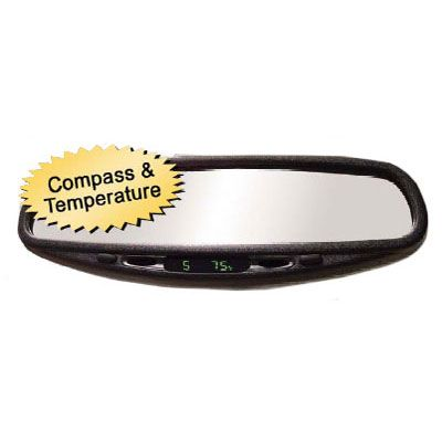 CIPA Auto Dimming Mirror w/ Compass and Temperature Display Standard Wedge Mount Style #36400