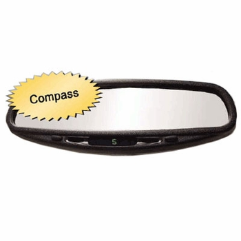 CIPA Auto Dimming Mirror w/ Compass Standard Wedge Mount Style #36200