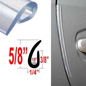 """U"" Style Clear Style Guard Door Protectors Set of 2, Cowles® # T3000"
