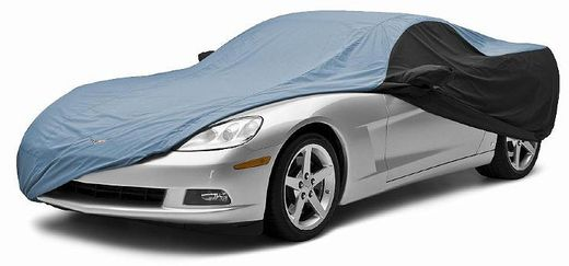 CoverKing Custom Car Covers 2-Tone Black Sides w/Blue Center Stormproof Material #CVC6SP297