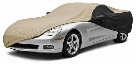 CoverKing Custom Car Covers 2-Tone Black Sides w/Tan Center Stormproof Material #CVC1SP296