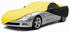 CoverKing Custom Car Covers 2-Tone Black Sides w/Yellow Center Stormproof Material #CVC3SP293