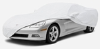 CoverKing Custom Car Covers Pearl White Color Stretch Satin Material #CVC7SSP1