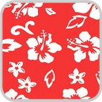 CoverKing Front Dash Cover Red, Hawaiian Design Velour Material #CDCA7