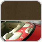 CoverKing Rear Cover Brown Color Poly Carpet Material #CRDP4