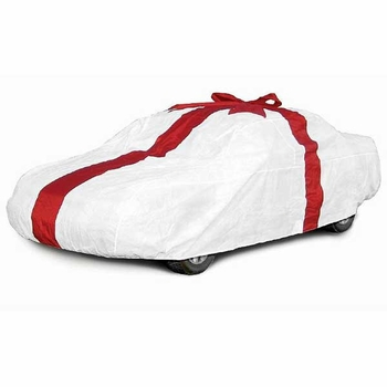 CoverKing Ribbon Car Cover Gift Car Cover w/ Red Car Bow For Sedans up to 14' Long #SPC109