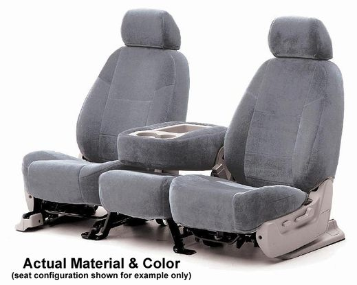 CoverKing Tailored Seatcovers Gray Color Velour Material 1-Row Set #CSCV3