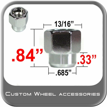 """Custom Wheel Accessories® 1/2"""" x 20 Chrome Lug Nuts Mag Seat Right Hand Thread Chrome Sold Individually #4903OP"""