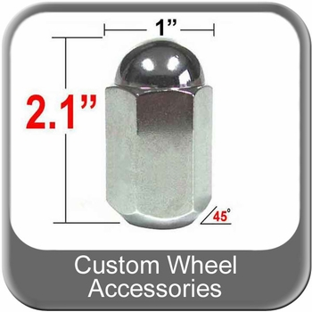 """Custom Wheel Accessories® 5/8"""" x 18 Chrome Duallie Lug Nuts Tapered (45°) Seat Right Hand Thread Chrome Sold Individually #7611"""