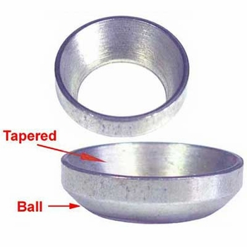 Custom Wheel Accessories® Silver Lug Nut Washer Tapered/Ball Adapter Round Sold Individually #6016
