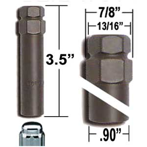 7 Spline Lug nut key, Wheel lock key - Custom Wheel Accessories® # 6964