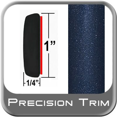 """1"""" Wide Deep Blue Metallic Molding Trim ( CP58 ), Sold by the Foot, Precision Trim® # 11100-64"""