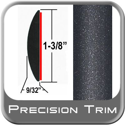 """1-3/8"""" Wide Gray (Dark) Molding Trim (PT08) Sold by the Foot Precision Trim® #17100-08-01"""