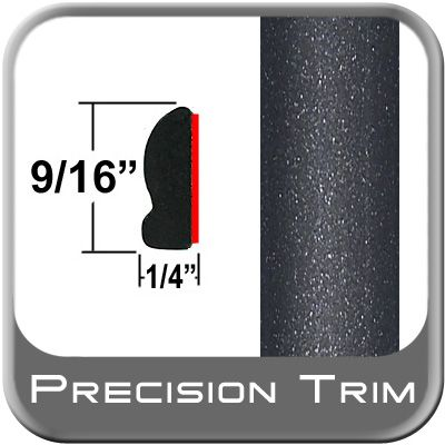 """9/16"""" Wide Magnetic Gray Wheel Molding Trim 1G3 ( PT08 ), Sold by the Foot, Precision Trim® # 9150-08"""
