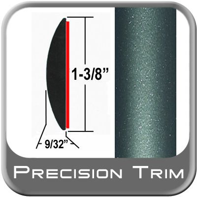 """1-3/8"""" Wide Green (Dark) Molding Trim ( PT78 ), Sold by the Foot, Precision Trim® # 17100-78-01"""