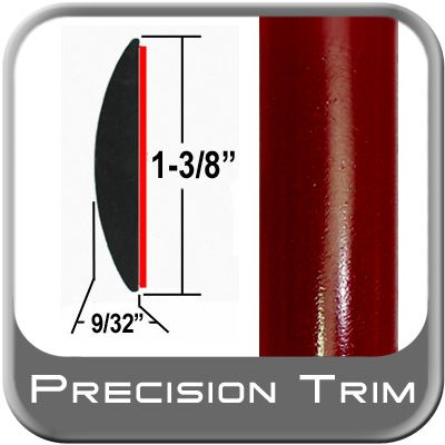 """1-3/8"""" Wide Medium Red Metallic Molding Trim ( CP23 ), Sold by the Foot, ColorTrim Plastics® # 60-23"""