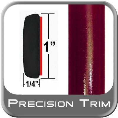 "1"" Wide Medium Red Metallic Molding Trim ( CP41 ), Sold by the Foot, ColorTrim Plastics® # 50-41"