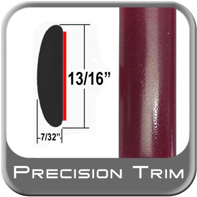 """7/8"""" Wide Red (Dark) Molding Trim ( PT65 ), Sold by the Foot, Precision Trim® # 40100-65-01"""